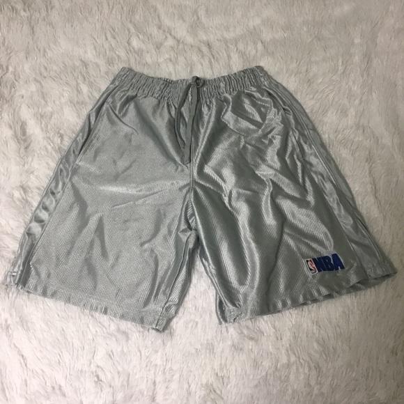 NBA Silver Gray Basketball Athletic Shorts Medium